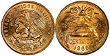 1970 MX LARGE COPPER 20 CENTAVOS COIN (1960's-70's) w LIBERTY CAP and RAYS OVER MAYAN TEMPLE! EAGLE GRASPS SNAKE ON BACK (DATE MAY VARY) 20 CENTAVOS Bewteen XF and Unc depending on age
