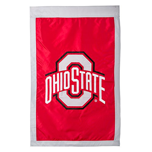 Team Sports America Double Sided Embellished Flag for Buckeyes Fans! Officially Licensed Ohio State Weather and Fade Resistant Outdoor Flag 44 x 28 Inches