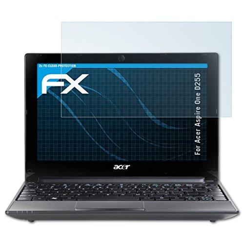 atFoliX Lámina Protectora de Pantalla Compatible con Acer Aspire One D255 Película Protectora, Ultra Transparente FX Lámina Protectora (2X)