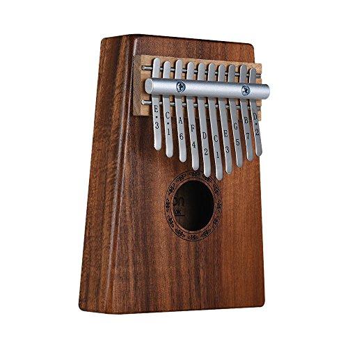 ammoon Kalimba, Thumb Piano 10 teclas, con Bolsa de Transporte, Libro de Música, Martillo de Afinación (Electrónica)