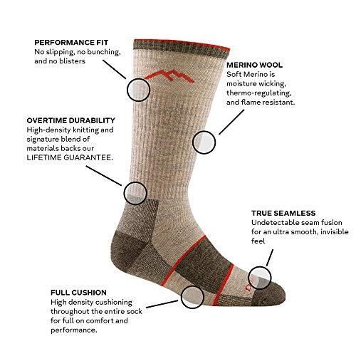 Darn Tough Merino Wool Boot Sock Full Cushion,Black,Large