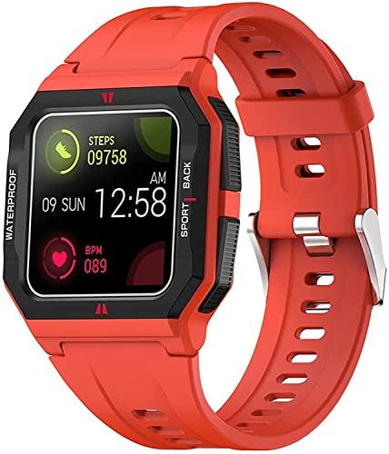 CNZZY FT10 Reloj inteligente para hombre con presión arterial y oxígeno en sangre, frecuencia cardíaca, reloj inteligente rastreador de actividades, reloj deportivo resistente al agua con calorías (C)
