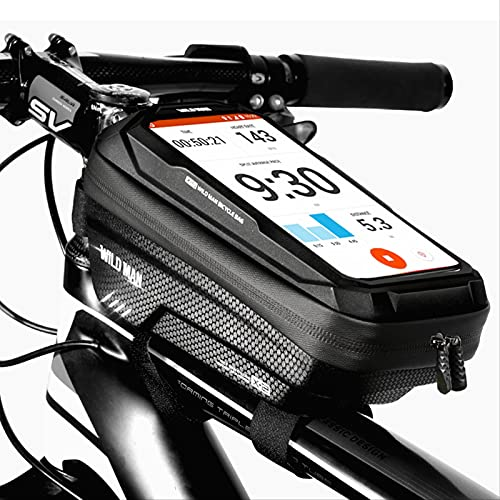 Bolsa Portabicicletas, Impermeable, Bolsa De Almacenamiento De Pantalla Táctil De Tubo Superior Delantero Para Bicicleta, Adecuado Para Iphone Samsung Y Otros Teléfonos Inteligentes De Menos De 6,5 Pu