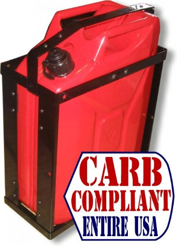 BILLET4X4 HD Jerry CAN Holder with Classic 5 Gallon Steel Jerry can - Gas - NATO Dimensions (CARB and EPA Approved for All 50 States)