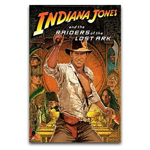 WPQL Póster de Indiana Jones And The Raiders of The Lost Ark - Lienzo decorativo para dormitorio (30 x 45 cm)
