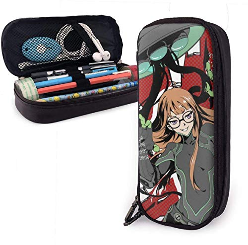 YOLOP Federmäppchen Pencil Case Big Capacity Storage Pen Pencil Pouch Box Organizer Practical Bag Holder with Zipper - Persona 5 Navi Futaba Sakura