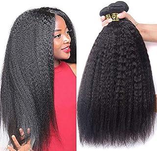 "QTHAIR 12A Grade Brazilian Straight Human Hair(28"" 28"",2 Bundles,100g,Natural Black) 100% Unprocessed Brazilian Virgin Hai..."