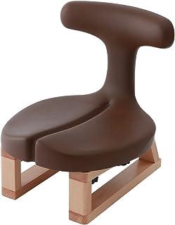 アーユル・チェアー あぐらイス ブラウン 【骨盤を立て坐骨で座る 腰と姿勢のサポート椅子 座椅子 床座り テレワーク 集中できる環境】