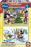 Educa14207 Disney Mickey Mouse Club House - Puzzles Grandes (2 Unidades, 48 Piezas)