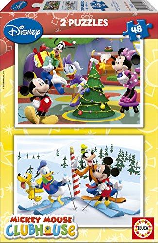 14207 Disney Mickey Mouse Club House   Puzzles Grandes (2 Unidades, 48 Piezas)