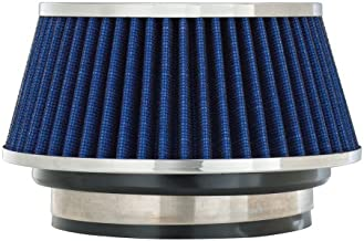 Spectre Universal Clamp-On Air Filter: High Performance, Washable Filter: Round Tapered; 3 in/3.5 in/4 in Flange ID; 2.625 in (67 mm) Height; 6 in (152 mm) Base; 4.75 in (121 mm) Top, SPE-8166