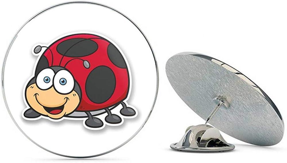 Ladybird Ladybug Round Metal 0.75
