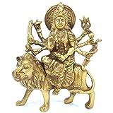 Aakrati Durga Ji Brass Made Figure for Temple - Large Durga Idol Hindu Goddess Brass Sculpture Maa Durga Kali Statue Diwali Decor Gifts