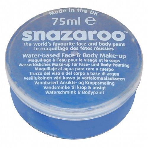Snazaroo 1175344 Kinderschminke, Leuchtendblau, 75ml- Schminkfarbe