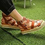 Zapatos Verano Mujer Comodos Sandalias con Correa de Tobillo Sandalias de Cuña Alpargatas Zapatos de Plataforma de Gladiador Zapatos de Playa Casuales