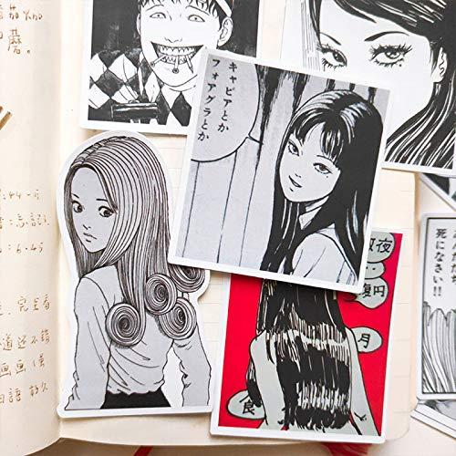 PMSMT 12PCS Fumetti Horror Adesivi Artigianato e Scrapbooking Adesivi Libro Studente Etichetta Adesivo Decorativo per Bambini Giocattoli