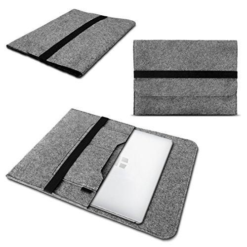 UC-Express Laptop Tasche Sleeve Hülle für Odys Fusion Win 12 - Prime Win 12 - Unity Win 12 Pro - Winpad 12 Notebook Netbook Hülle aus Filz in Grau von NAUCI