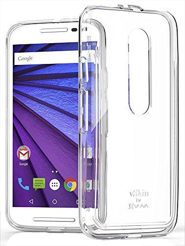 Moto G (3rd Gen, 2015) Case - VENA [vSkin CL] Slim Protection [1.0mm Thin] TPU Case Cover for Motorola Moto G (3rd Gen, 2015) (Clear)