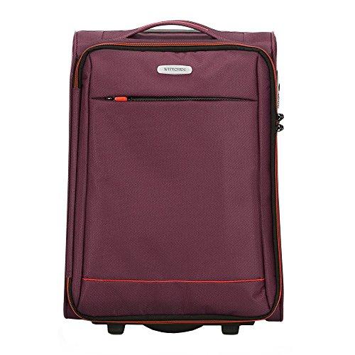 WITTCHEN Koffer – Handgepäck | Textil, Material: Polyester | hochwertiger und Stabiler | Burgund | 33 L | 54x36x20 cm