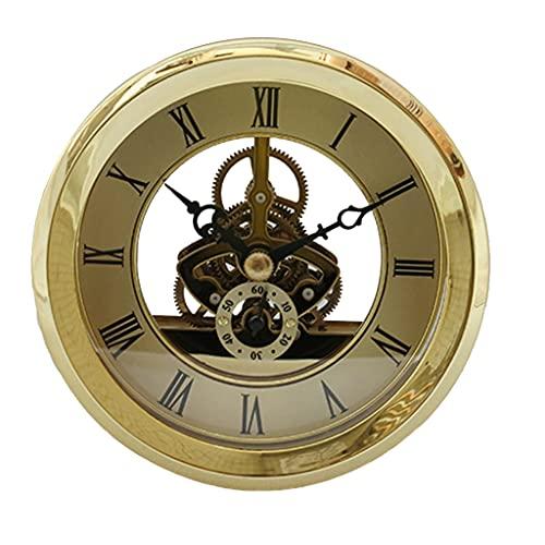 LANL Reloj de cuarzo con números romanos y esqueleto, con detalles dorados para el día de San Valentín