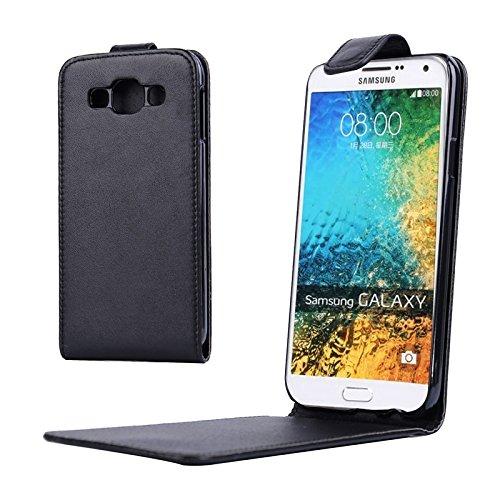 Schützen Sie Ihr Mobiltelefon Vertikale Flip Magnetic Snap Leder Tasche für Samsung Galaxy E5 für Samsung Handy