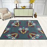 AHOMY Teppich 150 x 200 cm, Rutschfest, modernes Eulen-Teppich für Wohnzimmer/Baby/Haustierzimmer/Schlafzimmer/Esszimmer/Küche, Textil, Multi, 150x200 cm (5'x7' ft) - 3