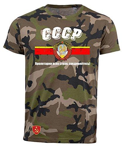 aprom T-Shirt CCCP Sowjetunion Russland UDSSR Camouflage Army NC D03 (2XL)