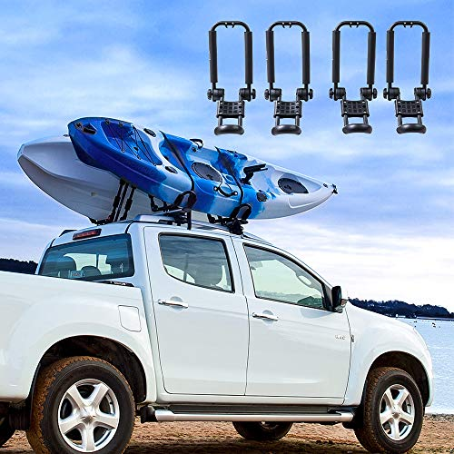 TMS J-Bar Rack HD Kayak Carrier Canoe Boat Surf Ski Roof Top Mounted on Car SUV Crossbar w//Free Cell Phone Case T-Motorsports