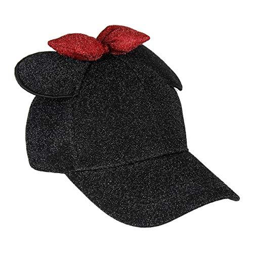 Cerdá Minnie Mouse 3D Ajustable-56 cm-Juvenil Gorra de béisbol, Negro, 56 cm para Niñas