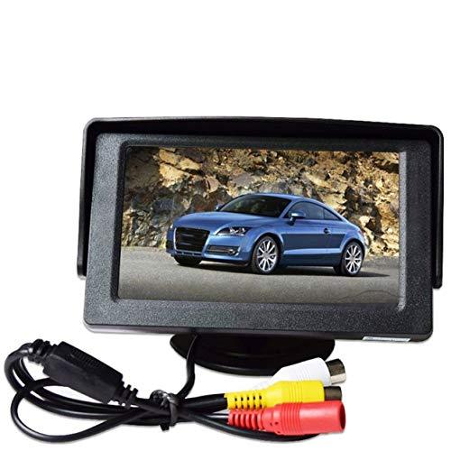 YXDS Pantalla del Coche Pantalla LCD Digital Tft HD de 4,3 Pulgadas TV pequeño Entrada AV bidireccional Entrada de vídeo bidireccional con prioridad de Marcha atrás