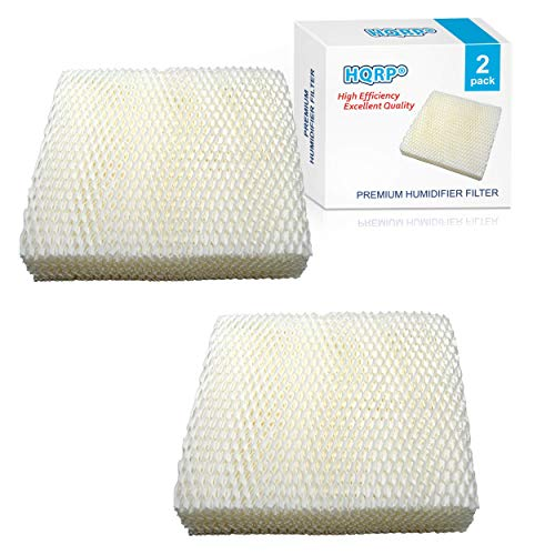 HQRP 2-pacco Filtro stoppino compatibile con Duracraft DH821 DH822 DH822C DH823 DH824 Umidificatori, AC-811 D11-C HC-811 Sostituzione