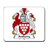 Anthony Family Crest Coat of Arms Mouse Pad