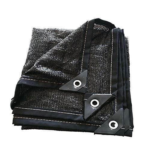 Malla Sombreo 95% Tela Resistente A Los Rayos UV Tela Transpirable Vela Toldo Parasol Al Aire Libre con Ojales Toldo Vela de Sombra LQHZWYC (Color : Black, Size : 2x5m)