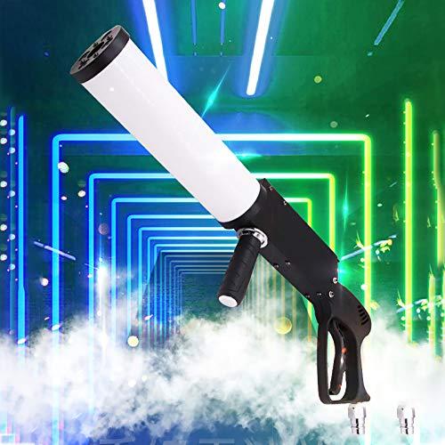 BrightFootBook Rauchmaschine mit LED-Lichtern, CO2-Handpistole Stage, Nebelmaschine Manuelle Steuerung, Baratmosphäre Gun für DJ, Hochzeiten, Halloween und Bühnenshows