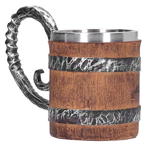 Taza de cerveza retro vikinga, taza para beber, taza de agua personalizada, diseño vivo 3d, barra de resina, uso para fiestas en el hogar