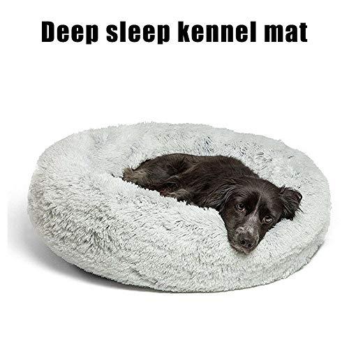 luoOnlineZ Haustierbett aus Kunstfell, Donut-Form, warm, Plüsch, Hundematte, 50 cm