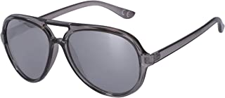 SIX - Gafas de sol para hombre, color gris, categoría de lentes: 3, filtro UV400, diseño de aviador (437-516)