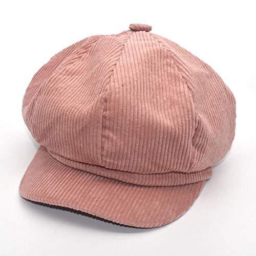 Boinas Gorro Sombreros Octogonales Vintage para Mujer, Boina De Pana para Niña, Gorra De Vendedor De Periódicos Informal De Otoño E Invierno