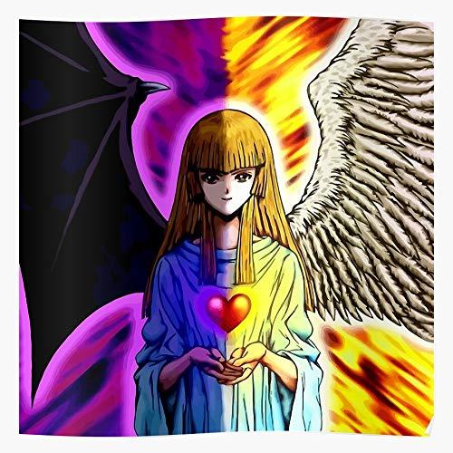 Wolvpower Eyes Dragon Magician Yu Dark Kaiba Oh Yugioh White Gi Girl Black Blue Das eindrucksvollste und stilvollste Poster für Innendekoration, das derzeit erhältlich ist