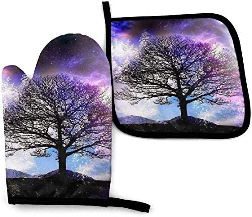 Fantasy World Oven Mitts and Pot Holders Potholders for Kitchens BBQ Silicone Cooking Gloves product image
