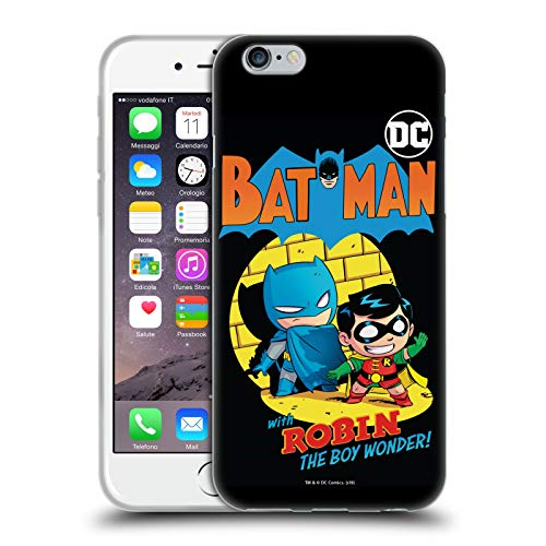 Head Case Designs Ufficiale Super Friends DC Comics Batman E Robin Bambini Copertine Cartoni Animati Cover in Morbido Gel Compatibile con Apple iPhone 6 / iPhone 6s