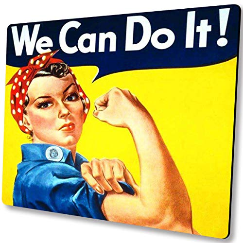 Shalysong Feminist Inspirational Mouse pad Personalized Design Non-Slip Rubber Mousepad for Laptop,We Can Do It!