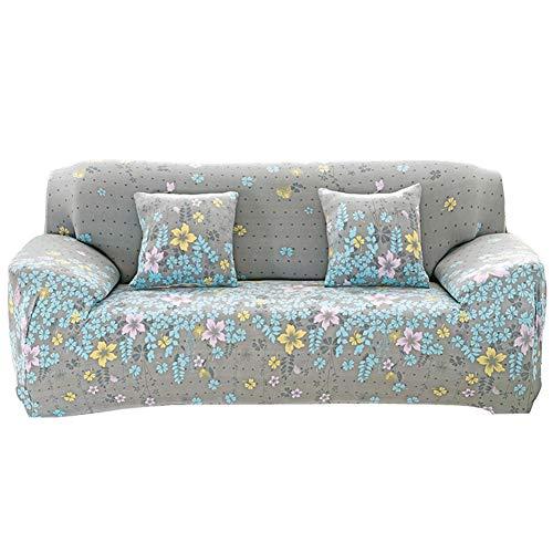 NAttnJf Tragbar Langlebig Sofa-Wrap mit floralem Druck Full Cover Anti-Rutsch-elastische Couch Case Slipover Decor 3# Sitz DREI