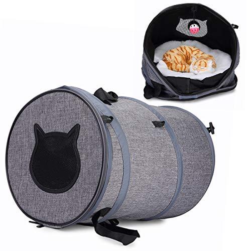 Rehomy 3-In-1-Katzentragetasche Faltbares Katzentuch Tragbare Tragetasche für Haustiere Tunnelspielzeug für Katzenwelpen im Freien