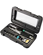 Butane Soldering Iron,10 in 1 Professional Gas Soldering Iron Self-igniting Torch Kit Adjustable Flame