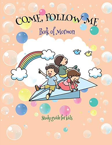 """Come Follow Me Book of Mormon Study Guide for Kids: Visual Study Journal For Primary Kids and Visual Learners; 110 Pages, Large 8x11"""" size, Study Prompts and Questions (Doodle Fun) -  Bountiful, Joy, Paperback"""