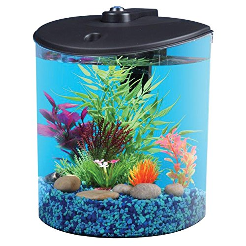 AquaView 1.5-Gallon Fish Tank with LED Lighting and Power Filter
