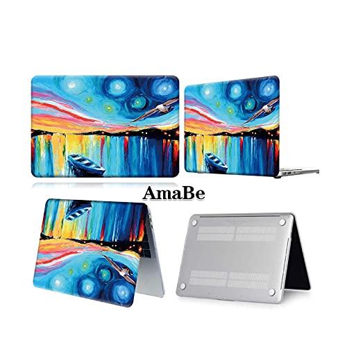 Funda para ordenador portátil anticaída para MacBook Air 13 A2337 A2179 2020 A2338 M1 Chip/Pro 13 15 A2289 Nueva Touch Bar para Mac Book Pro 16 Case amarillo hoja paint-Air 13 A2337 M1 2020