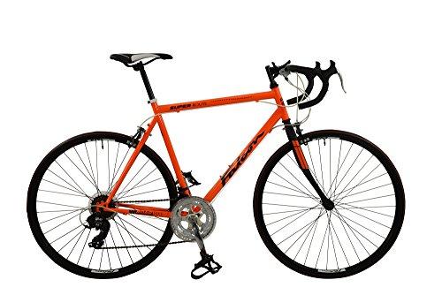 Falcon - Bicicleta de súper Ruta para Hombre, Color Rojo, Talla 12 Plus