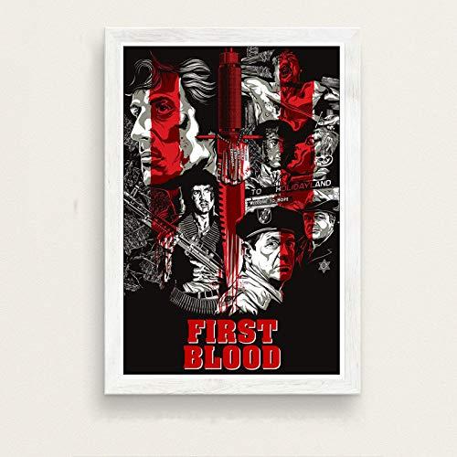 zxddzl Klassiker Film Stallone Rambo Kunst Malerei Poster Wand Dekoration 43 30 * 42